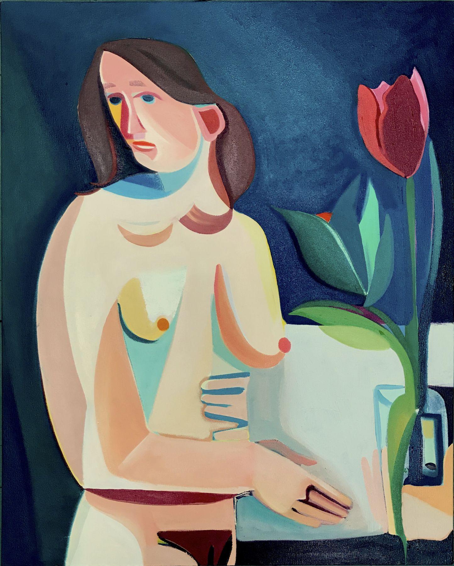 Danielle Orchard Blue Vase, 2017