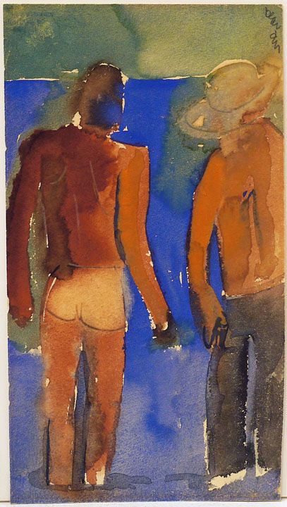 Untitled (Two Figures Standing), n.d.