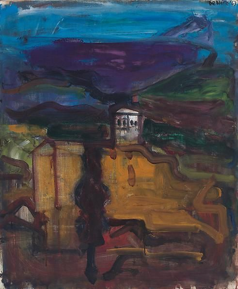 St.-Juste-en-Chavelet, 1963 Oil on linen, 28 5/8 x 23 1/2 inches