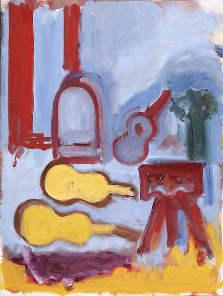 Blue Guitar with Yellow Case, 1987
