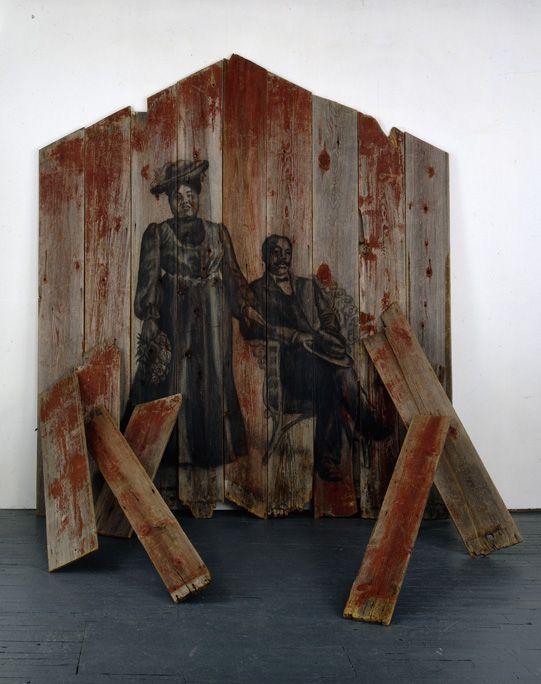 Ansermar, 1999 Charcoal on wood
