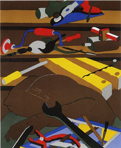 Tools, 1977 Lithograph on Rives BFK paper