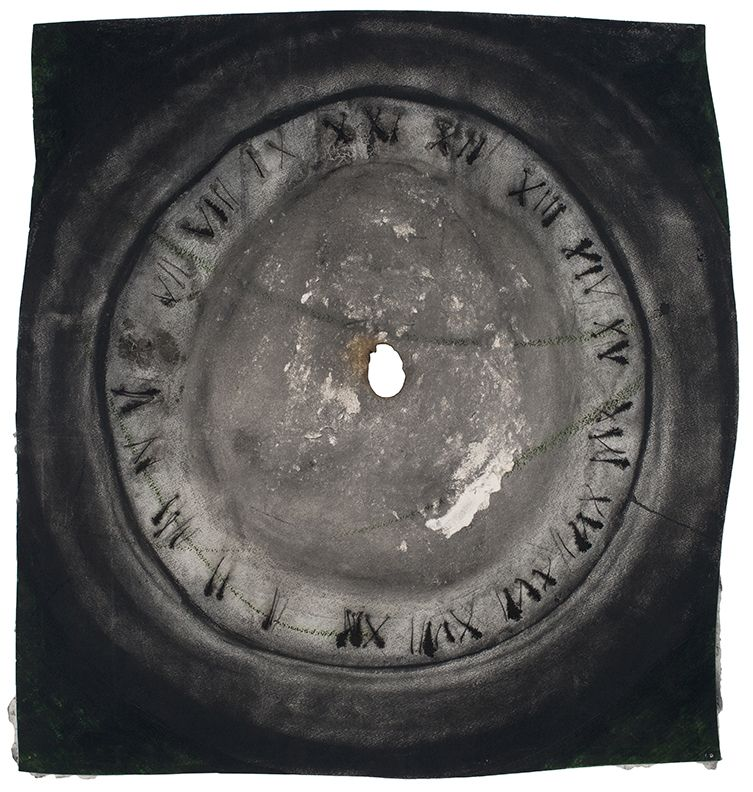 Time II, 1998, Oil stifck and charcoal on paper