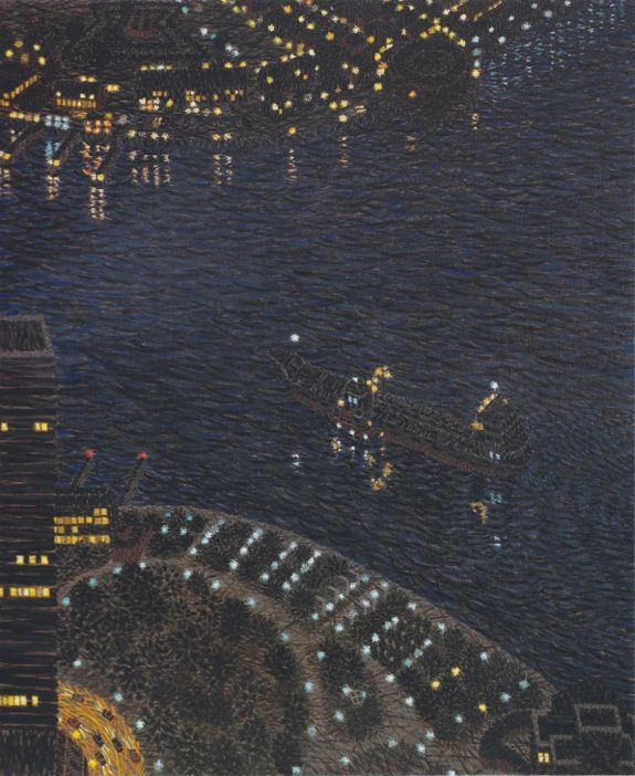 Oil Tanker Near Battery Park II, 1981, Oil on linen