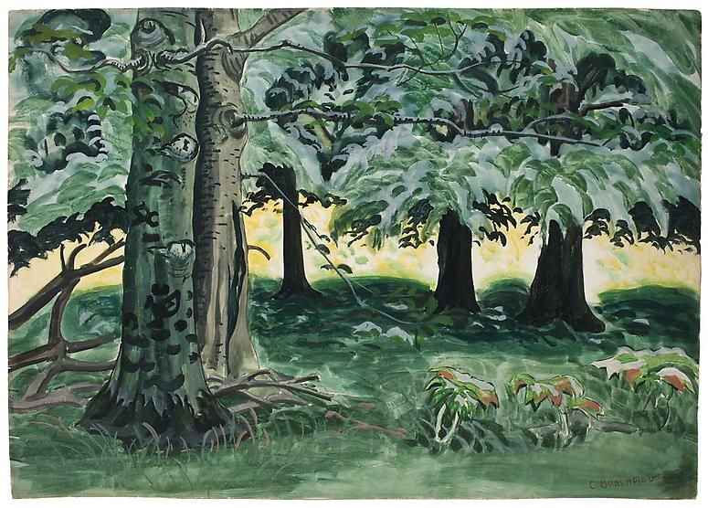 Green Lands with Two Trees, c. 1930