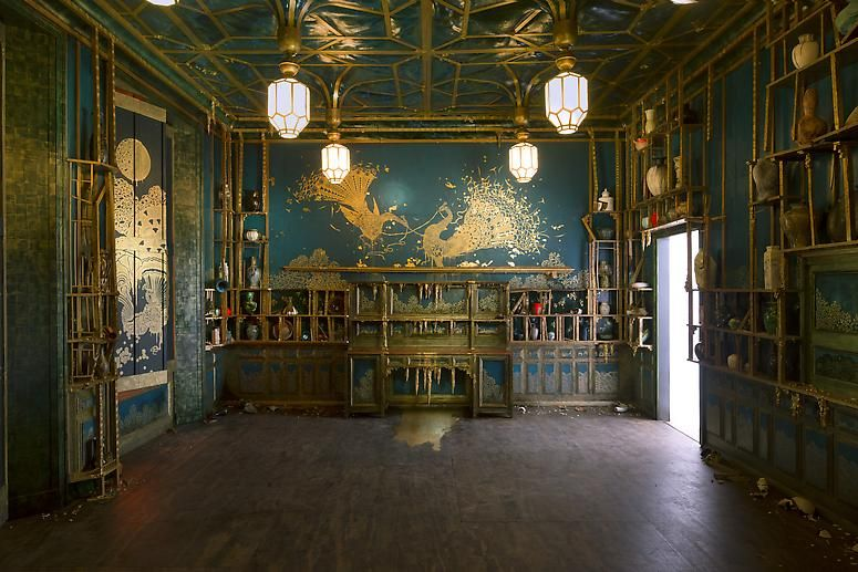 Installation shotofDarren Waterston's Filthy Lucre: Whistler's Peacock Room Reimagined, on displayat Victoria & Albert Museum, London, U.K.