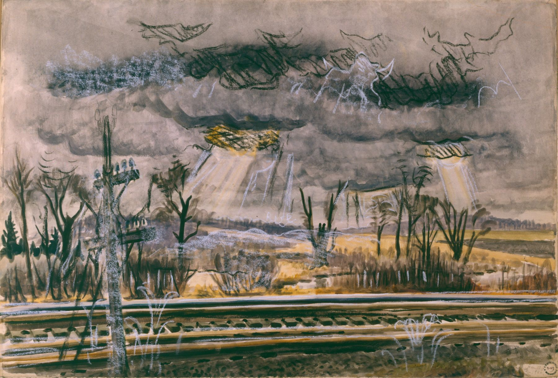 Charles Burchfield November Railroad-Mood, 1946