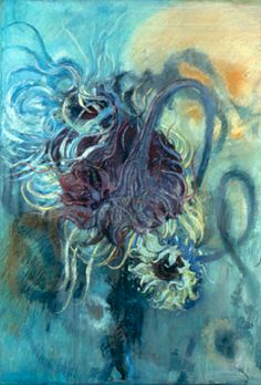 Reverse Bloom, 2001, Pastel on paper