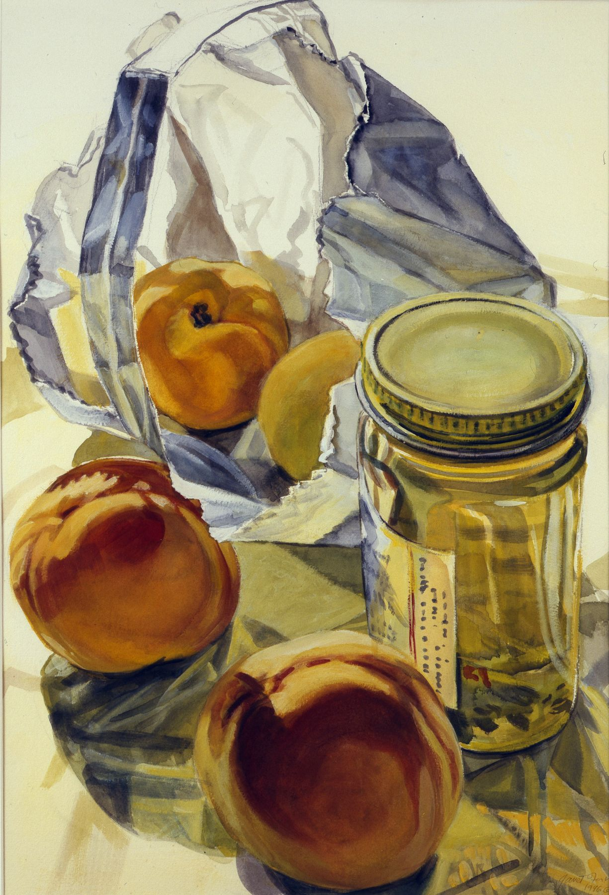 Bag, Honey, 1996, Watercolor on paper