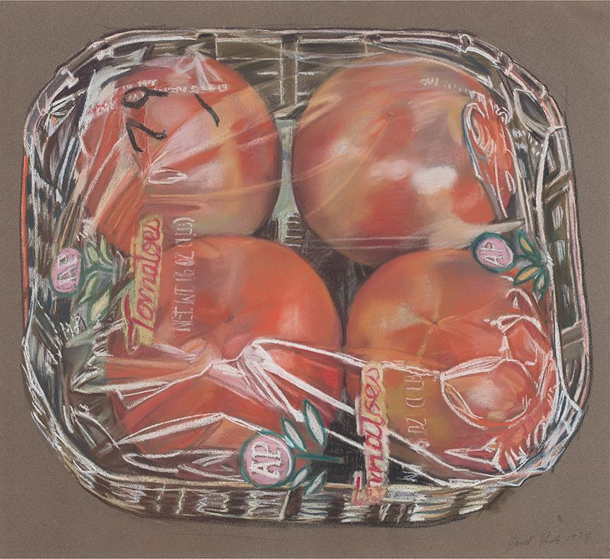 Four Tomatoes in a Clear Box, 1974