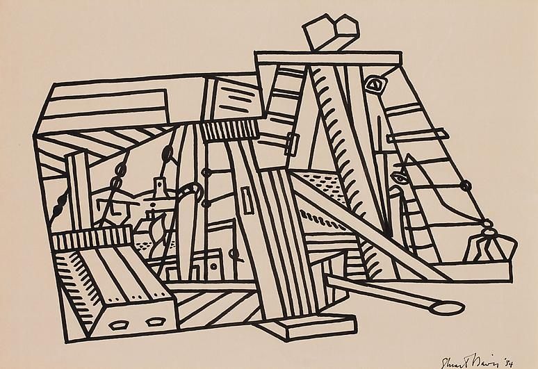 Stuart Davis Composition, 1934