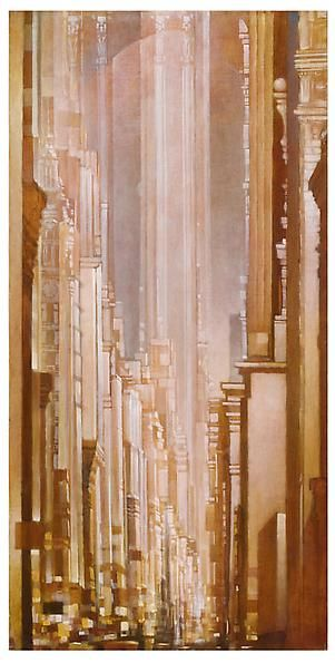 Architrave, 2012 Oil on canvas in the artist's handmade frame