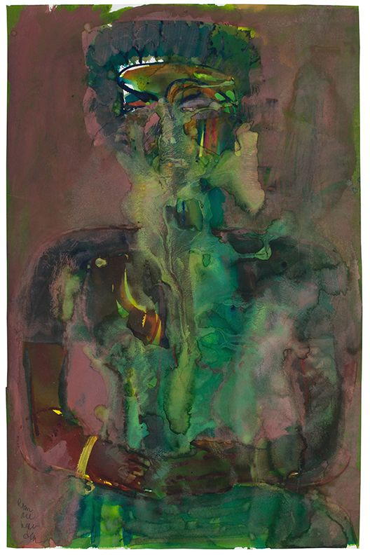 Obeah in a Trance, 1984, Watercolor and gouache on paper