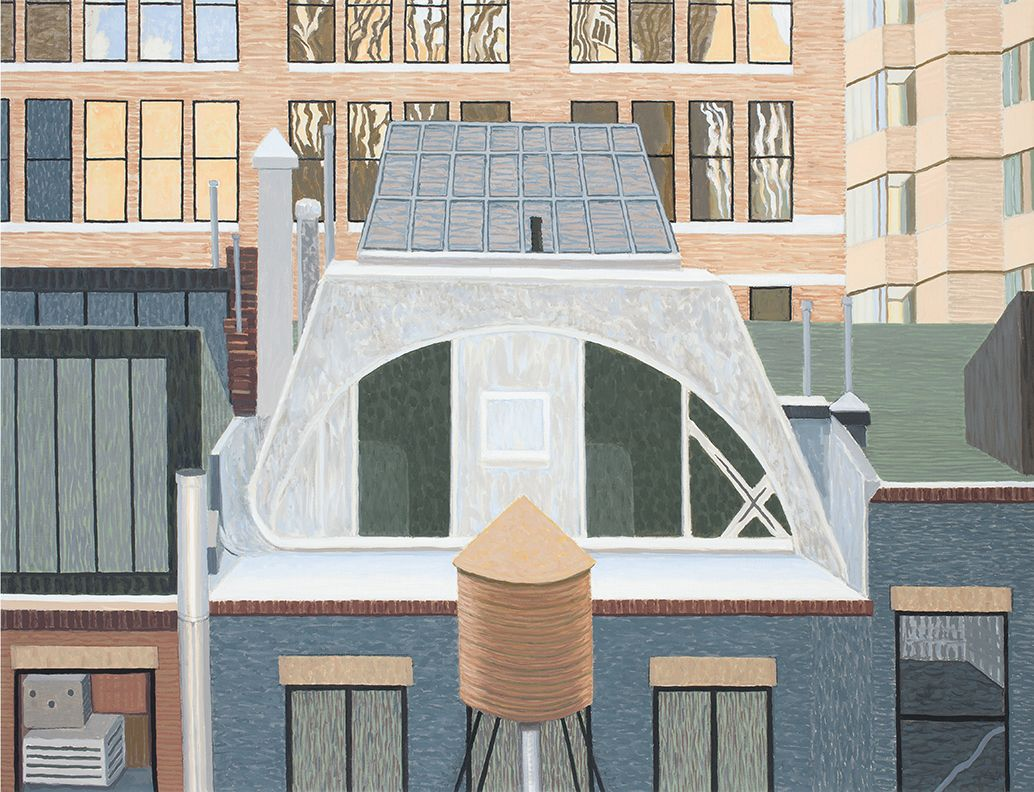 Studio on Tin Pan Alley, N.Y., 2015, Oil on linen