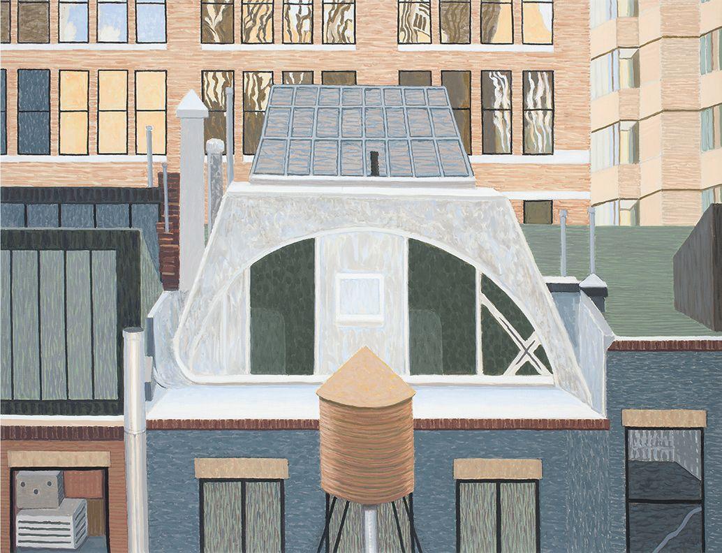 Studio on Tin Pan Alley, N.Y., 2015, Oil on linen