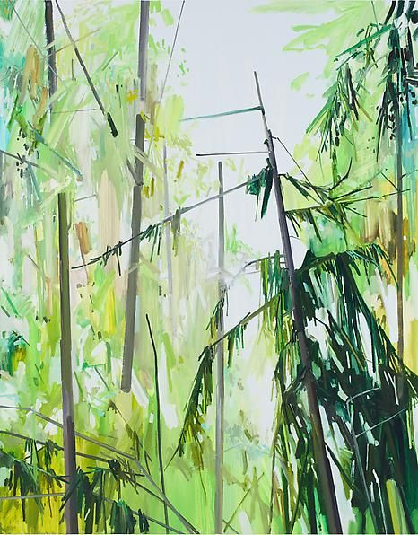 Trees, 2013 Oil on canvas, 84 x 66 inches