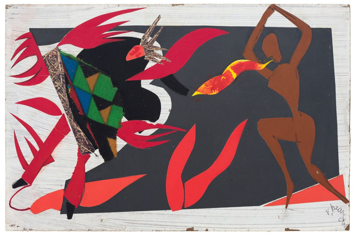 Bayou Fever, Untitled (The Conjur Woman), 1979 , Collage and acrylic on fiberboard