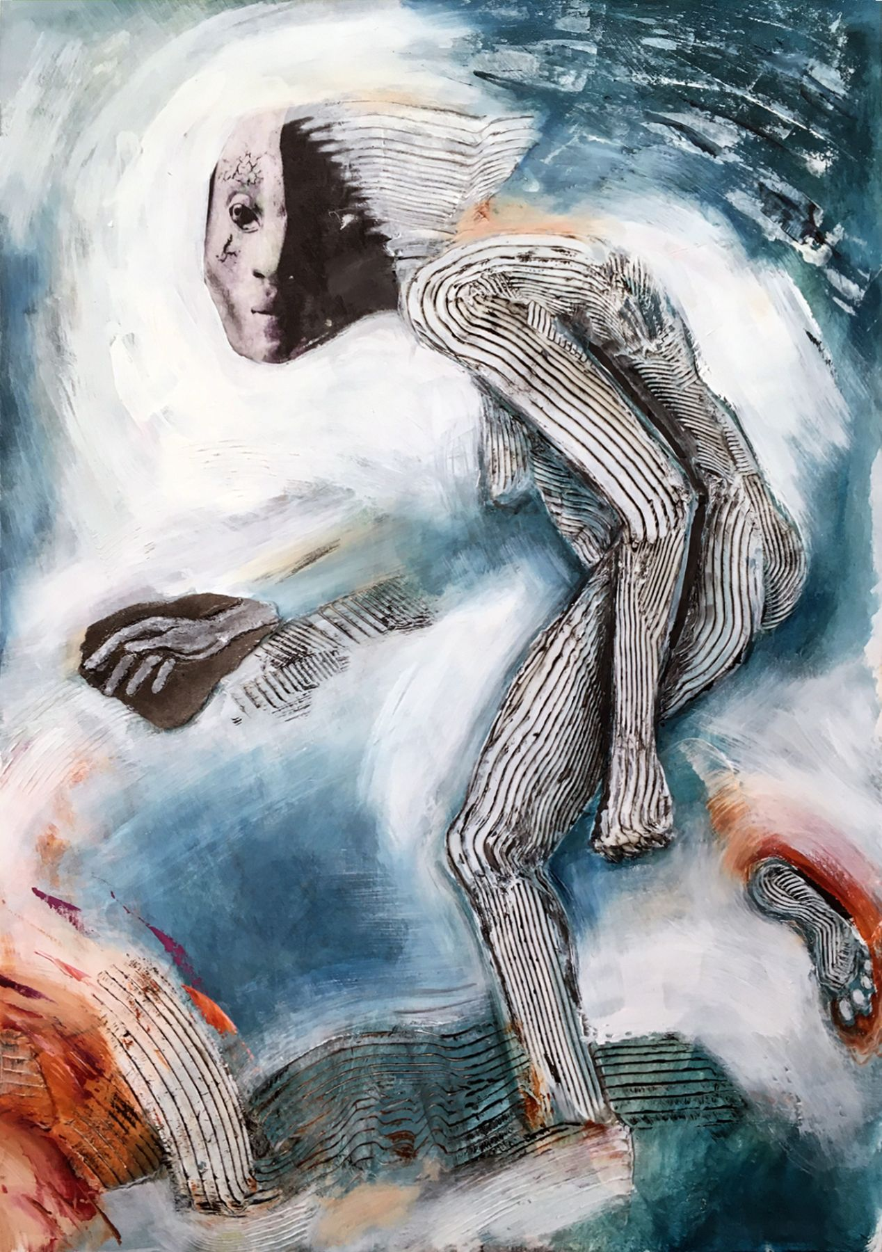 Emergence, 2020 Oil and stone on board