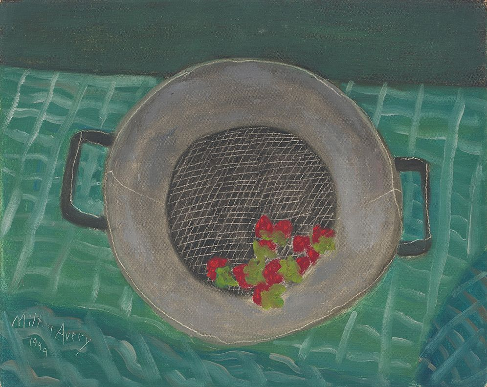 Fresh Strawberries, 1949, Oil on canvasboard