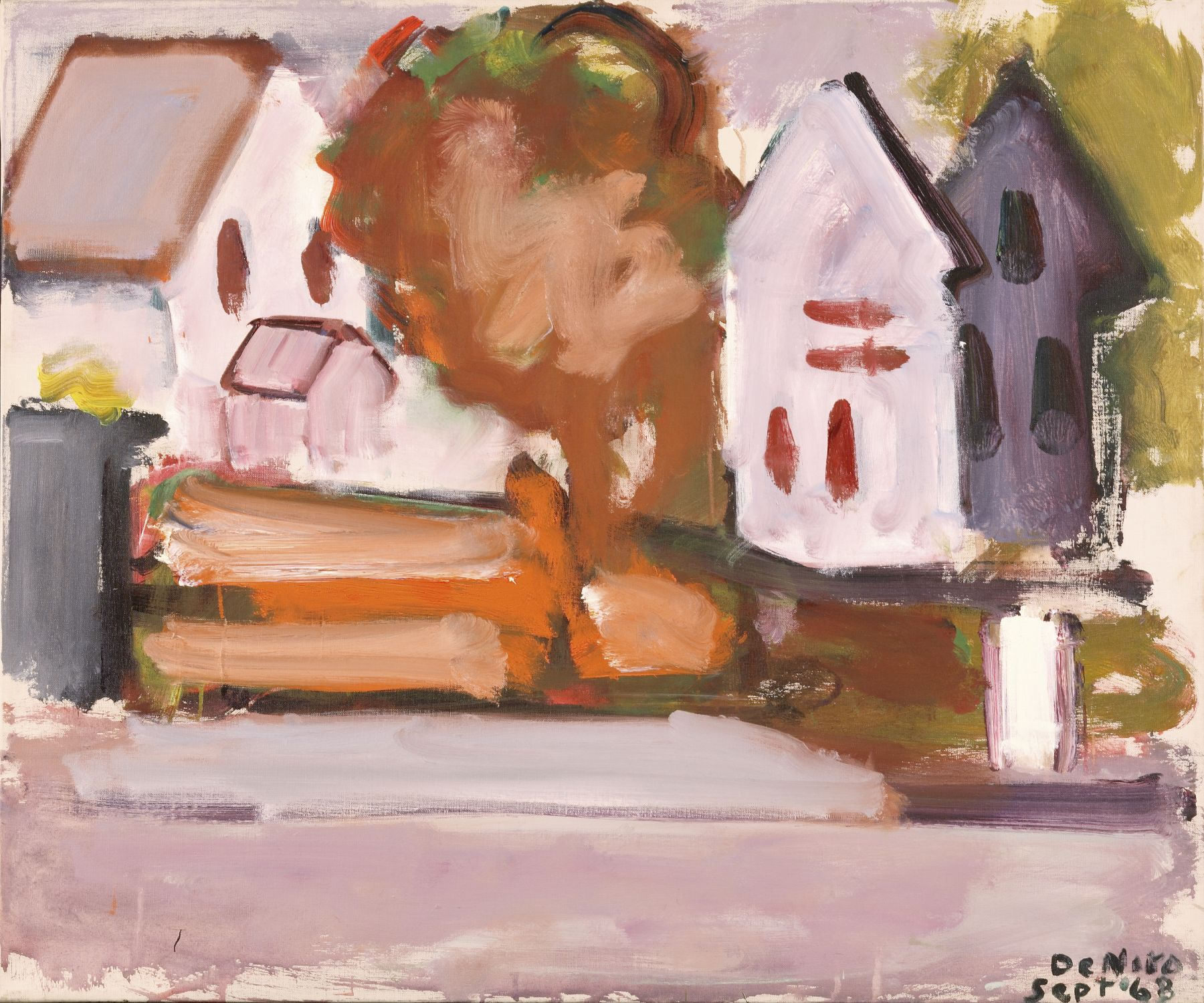 Landscape with White Houses, 1968