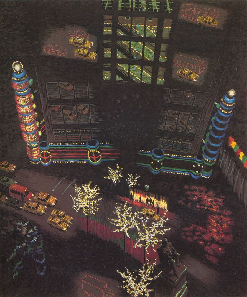 Herald Square Composite II, 1993, Oil on linen