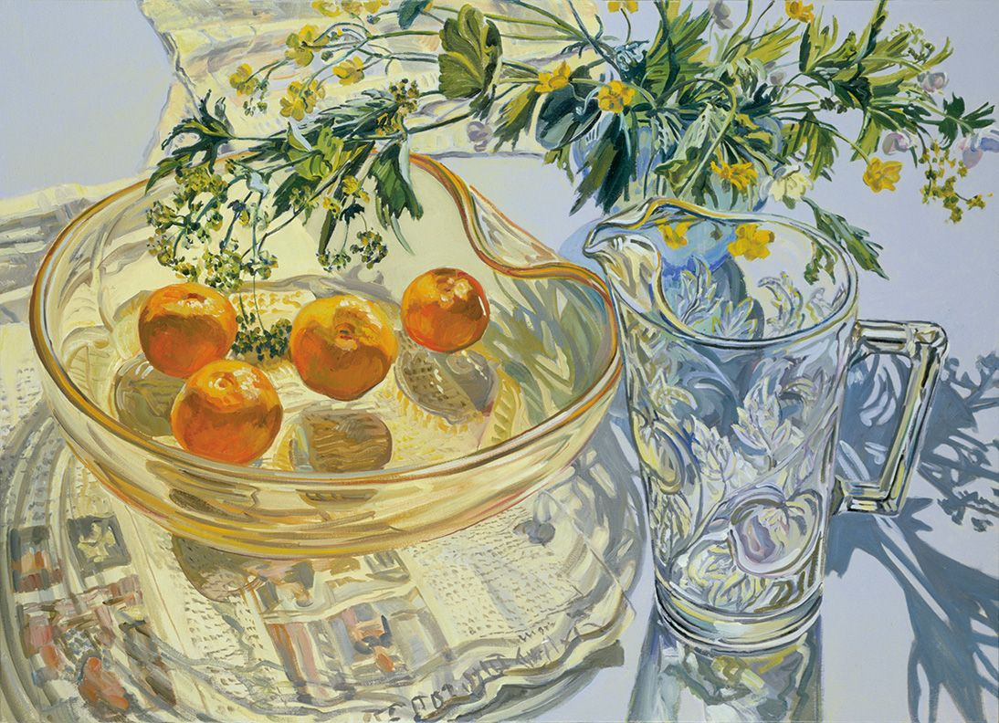 Yellow Glass Bowl with Tangerines, 2007, Oil on canvas