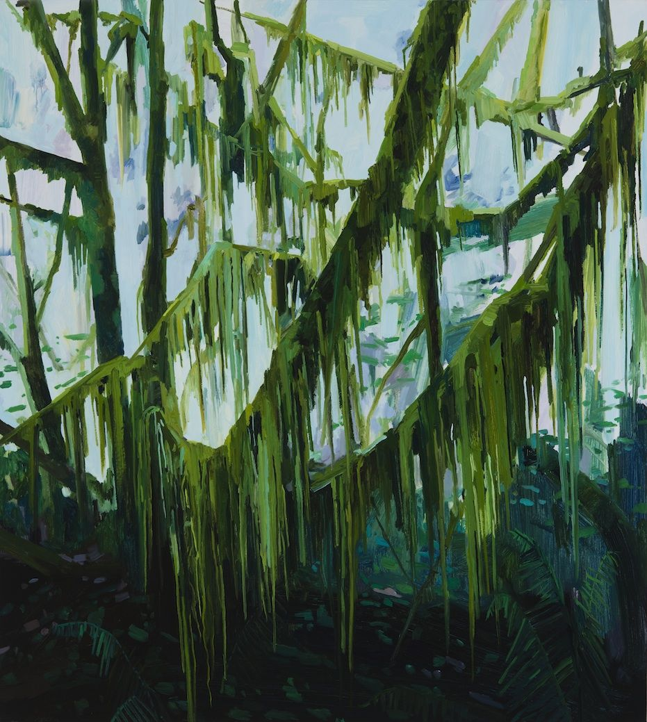 Moss and Branches, 2016, Oil on canvas