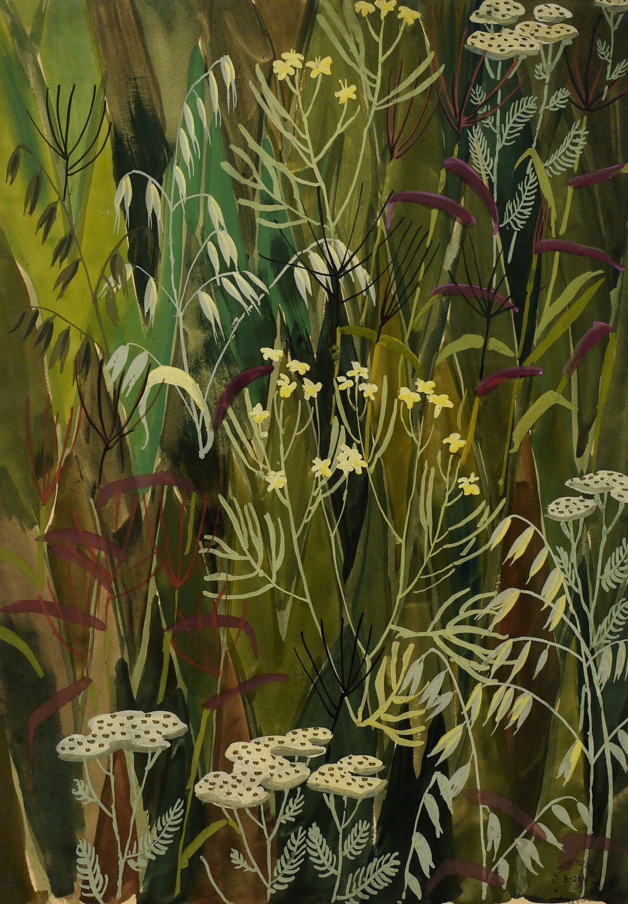 Charles Burchfield Wallpaper Design No. 3, 1922-28