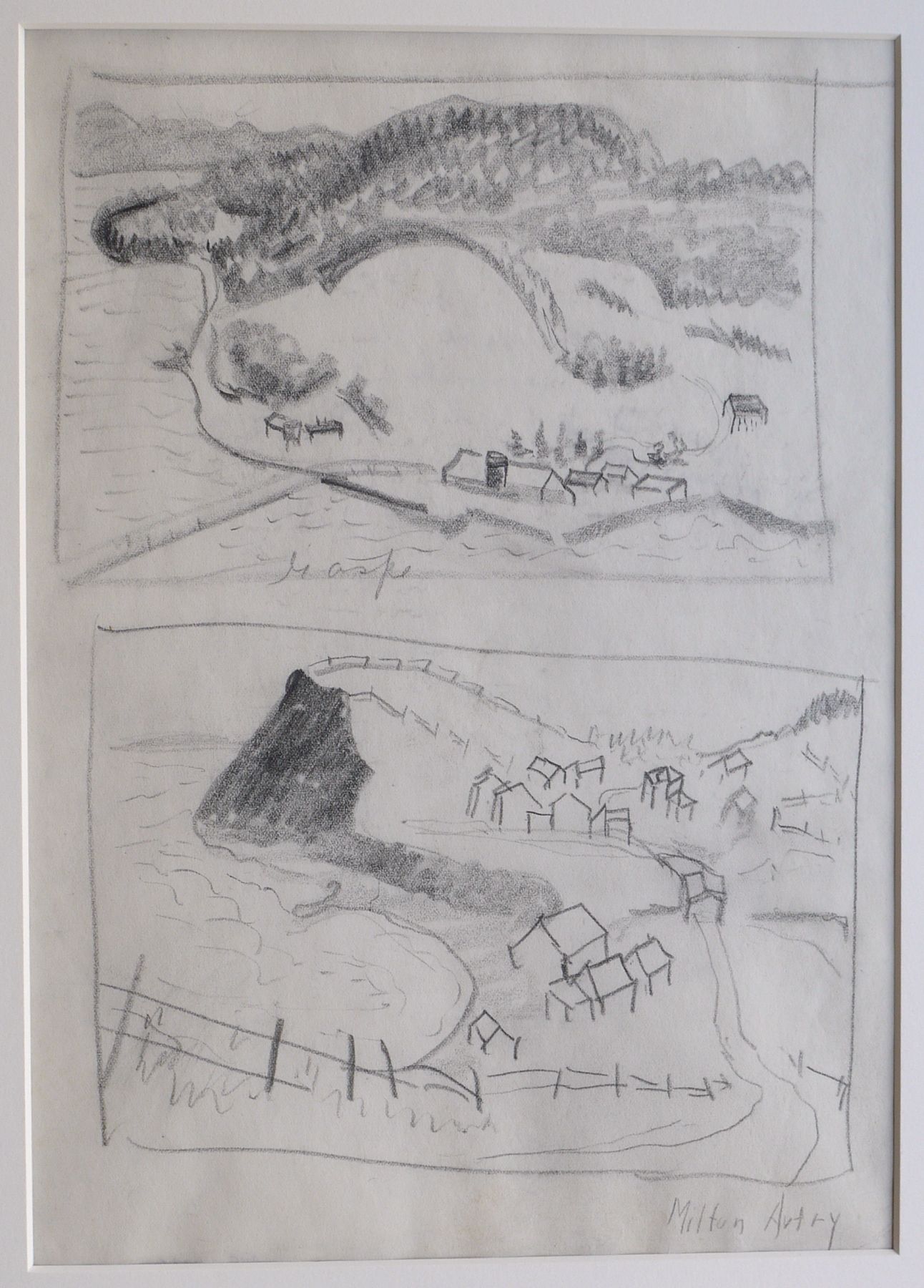 Milton Avery, Gaspe (2 Studies), c. 1938