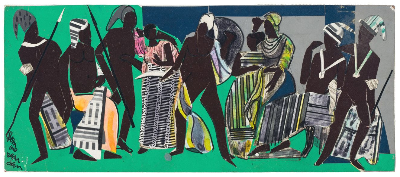 Bayou Fever, Untitled (All Come Back), 1979, Collage and acrylic on fiberboard