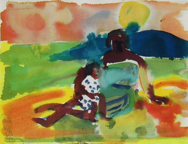Mother and Child on Shore, 1979