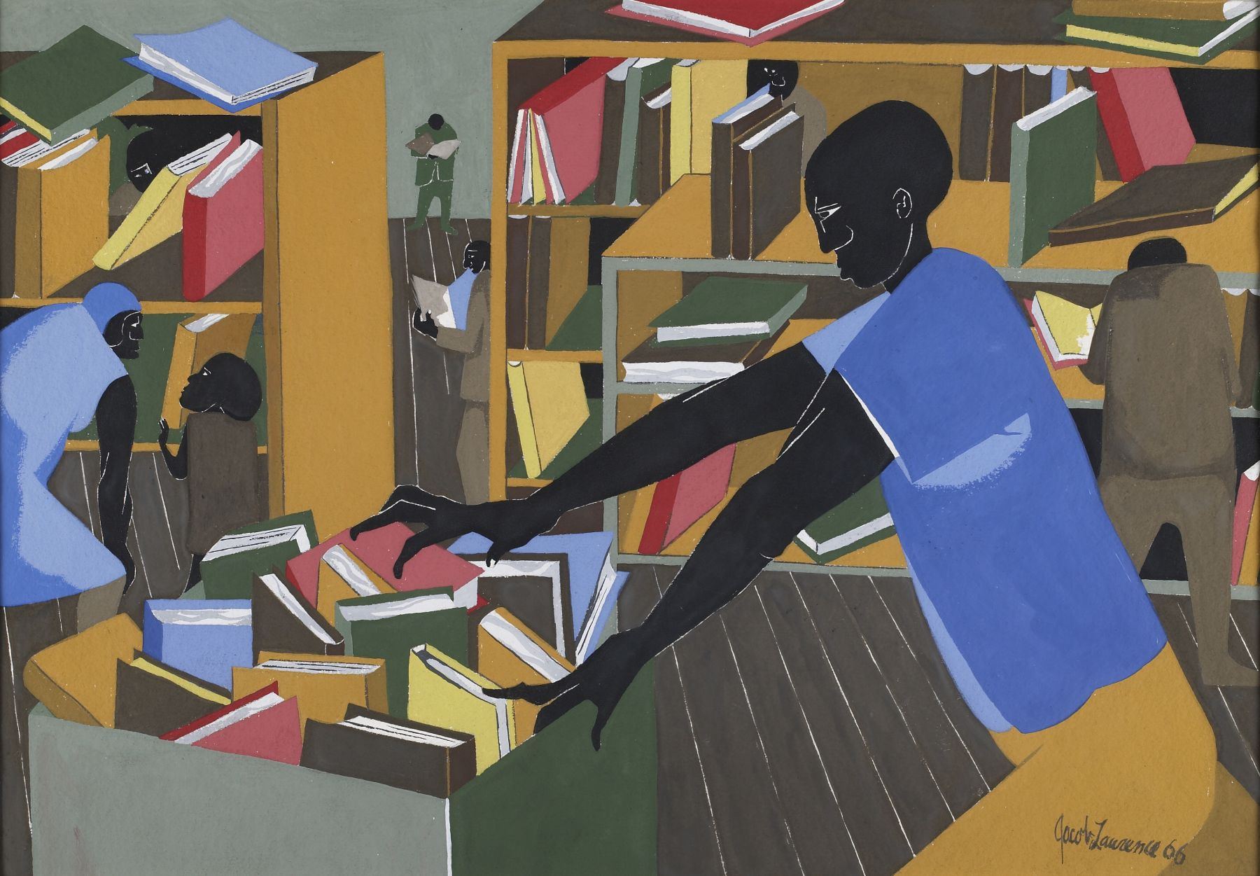 The Library,1978 Silkscreen on paper