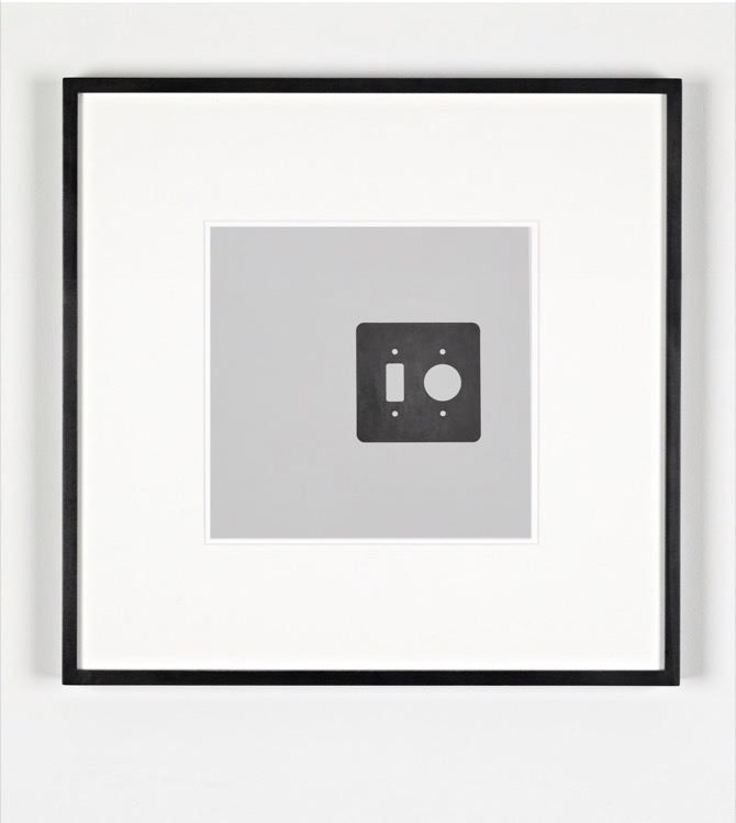 Switch and Outlet, 2017, pencil on photogram