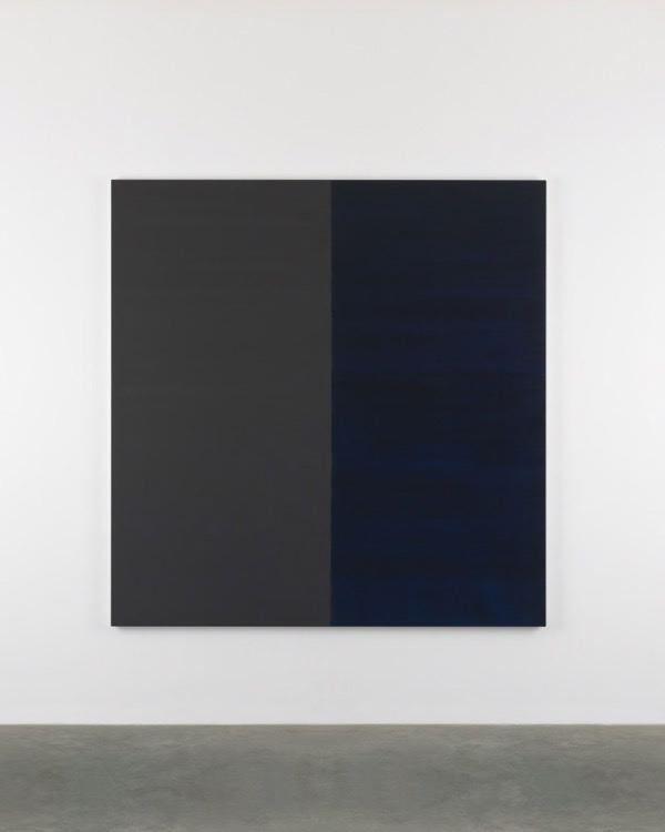 Untitled Lamp Black No. 10, 2016, oil on linen