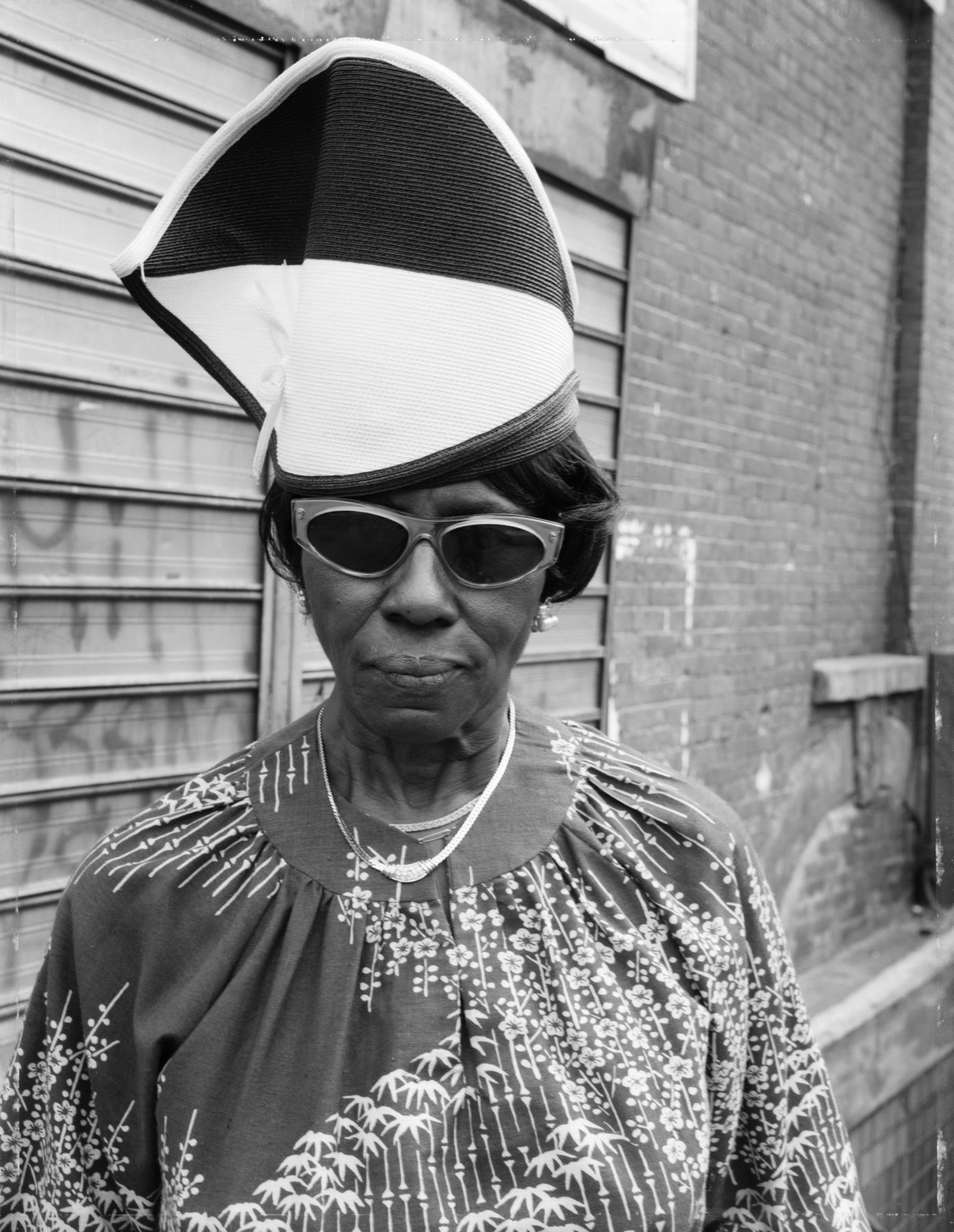A Woman at Fulton Street and Washington Avenue, 1989