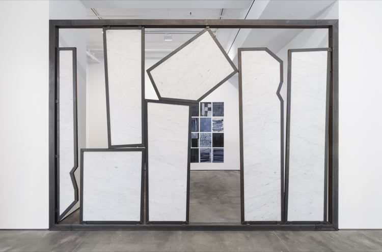Both sides now, 2017, marble, steel