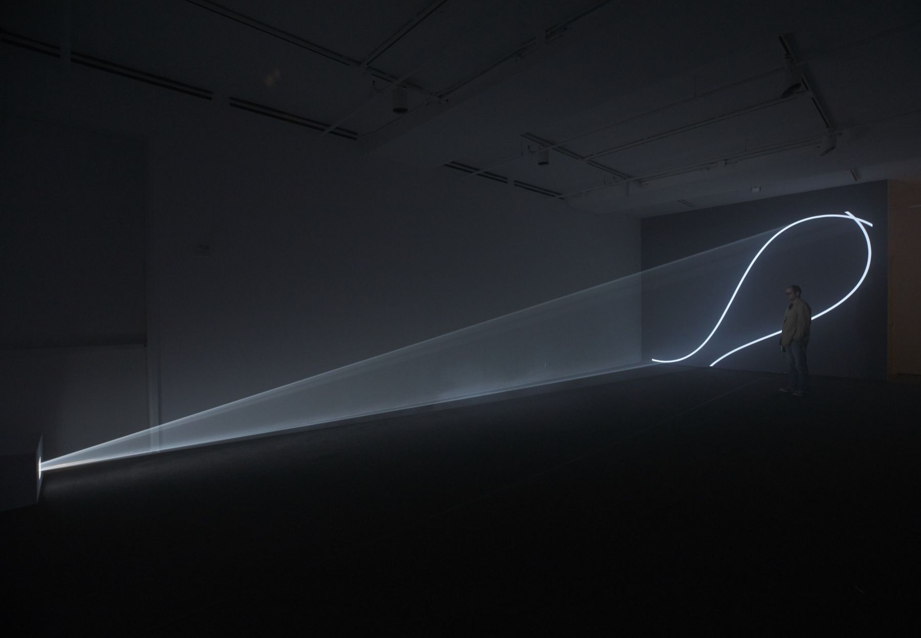 Installation view of Anthony McCall: Split Second at Sean Kelly, New York