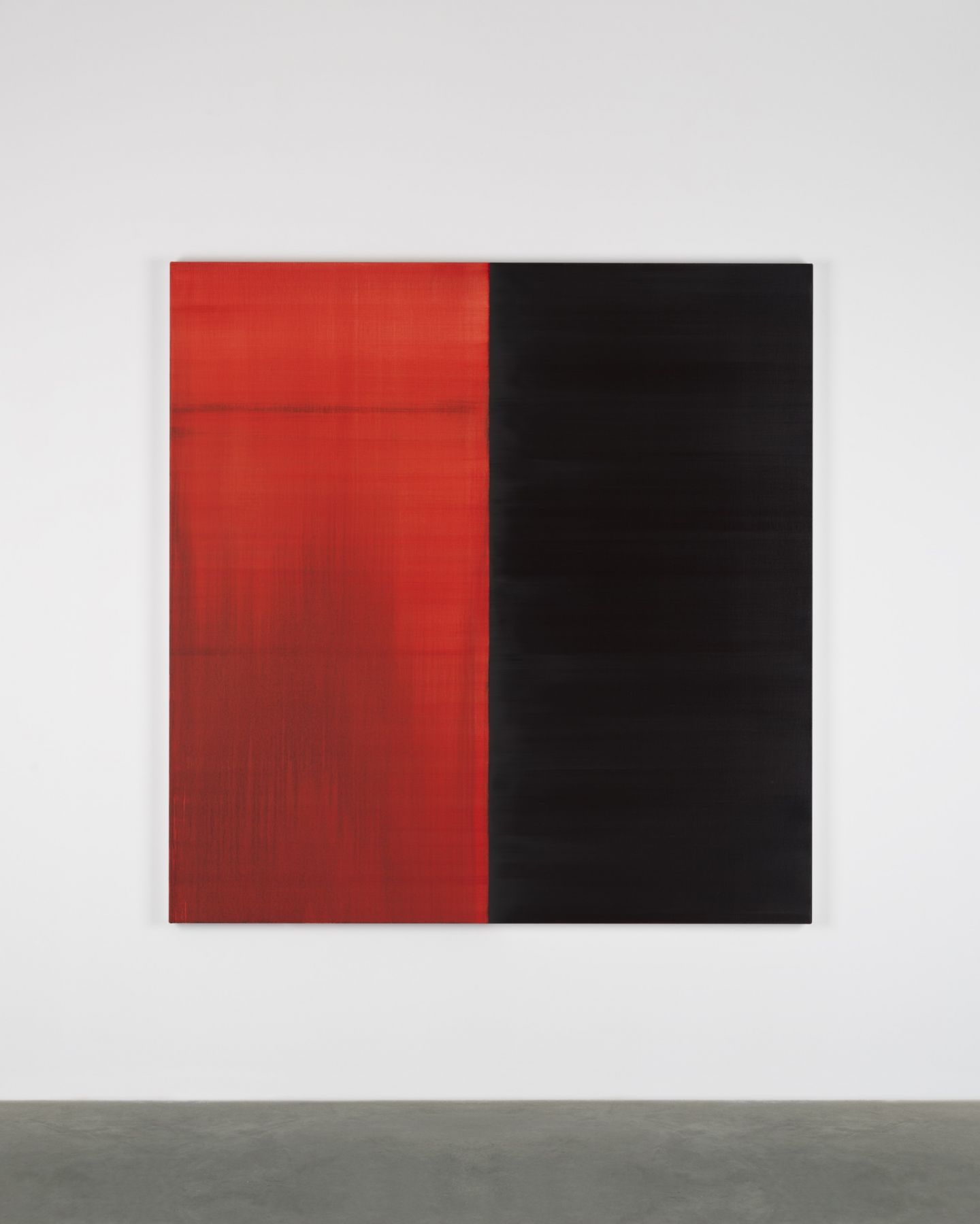 CALLUM INNES, Untitled Lamp Black / Crimson Lake No. 27, 2018