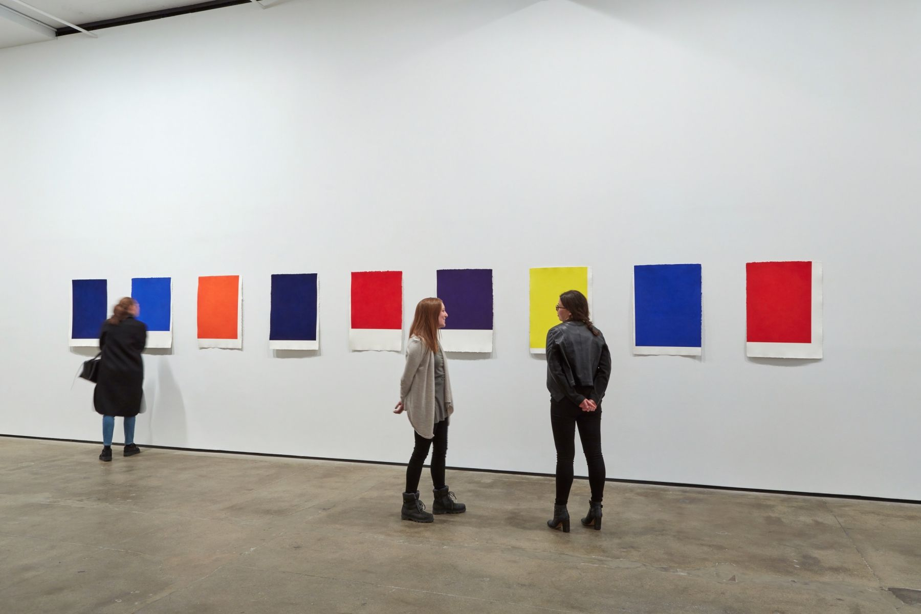 Installation view of Callum Innes,With Curveat Sean Kelly, New YorkMarch 17 - April 29, 2017Photography: Jason Wyche, New YorkCourtesy: Sean Kelly, New York