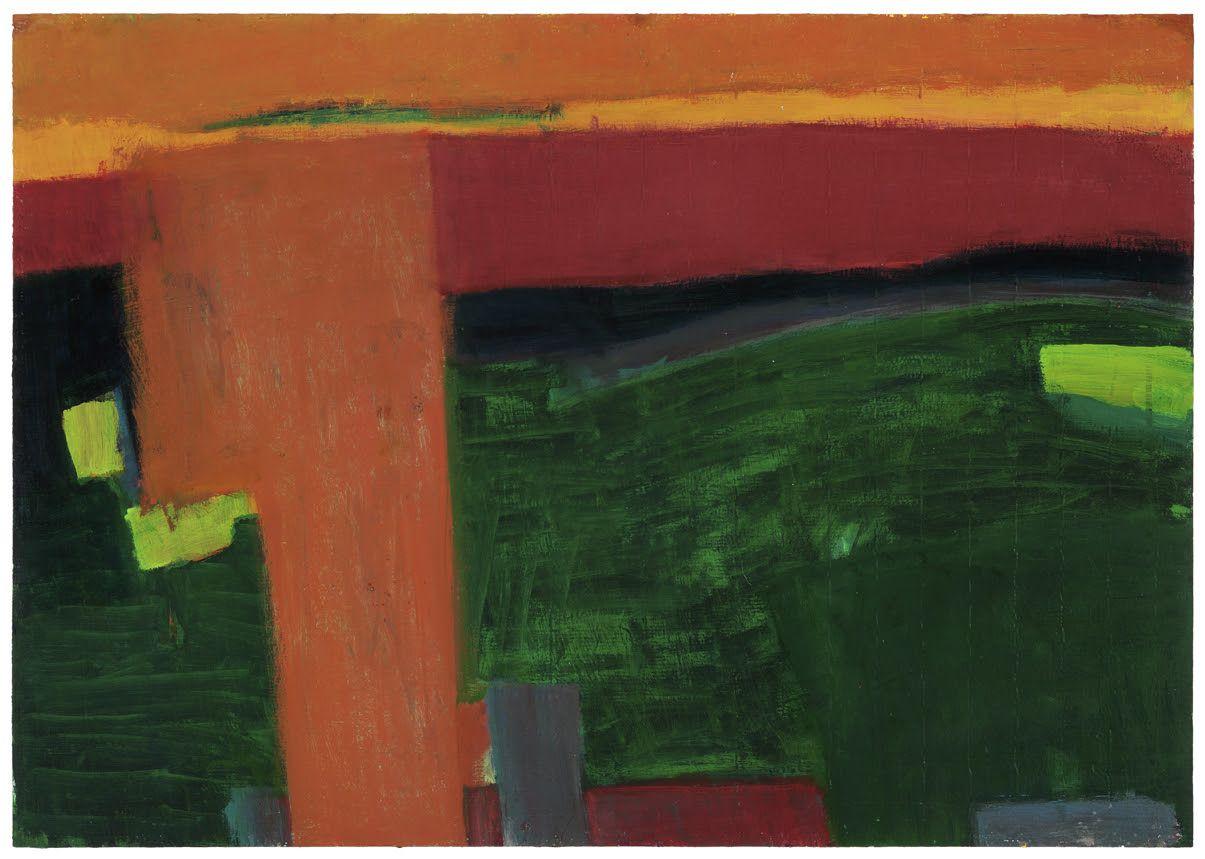 Untitled,1991 mixed media on cardboard
