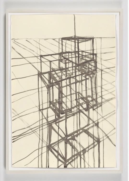 TERRITORY I, 2012, carbon and casein on paper