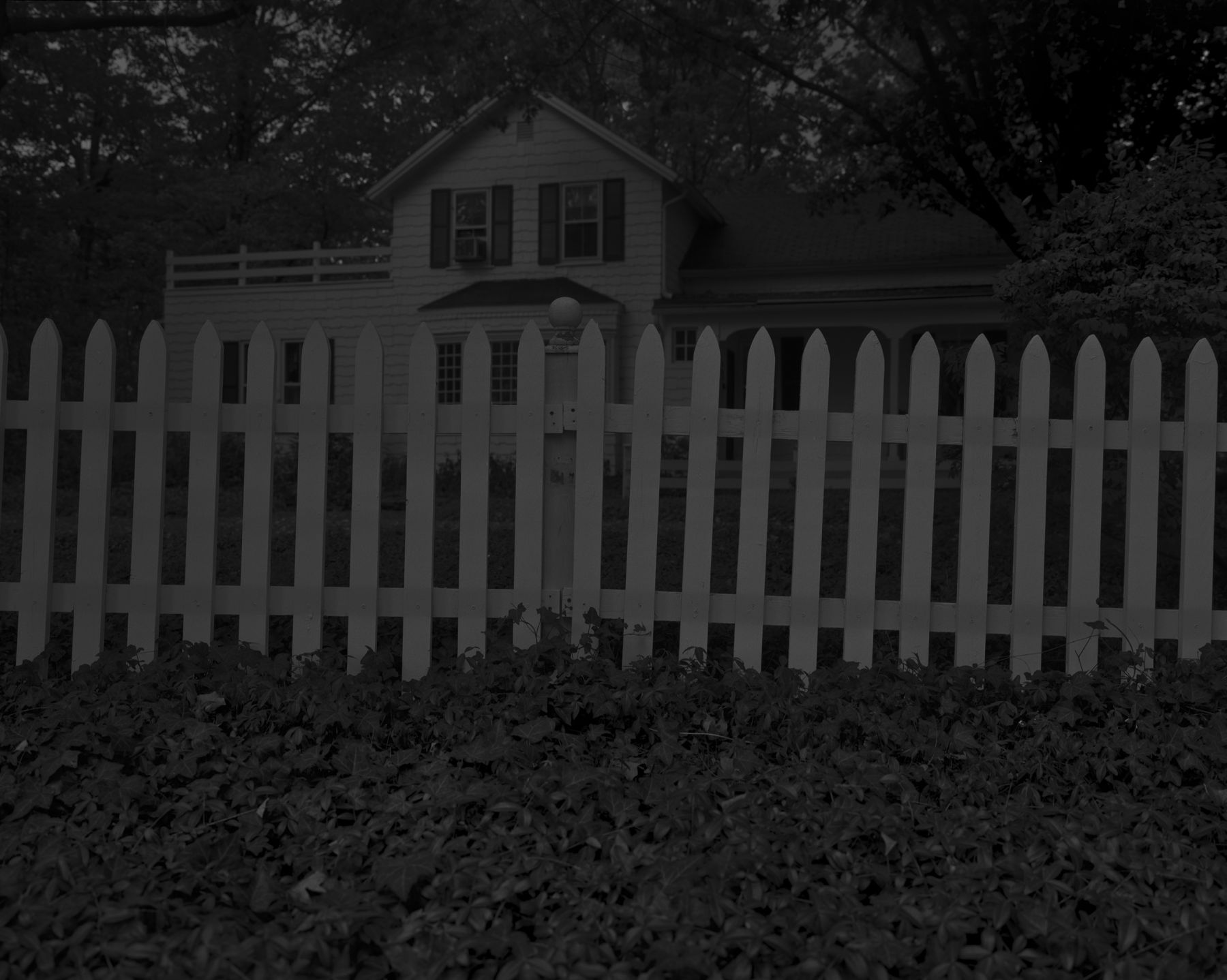 Untitled #1 (Picket Fence and Farmhouse), 2017