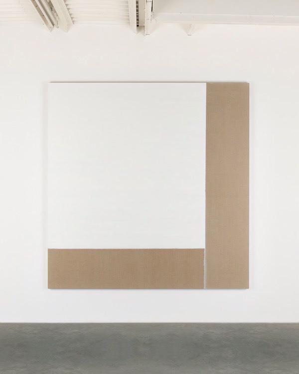 Exposed Painting Titanium White, 2017, oil on linen