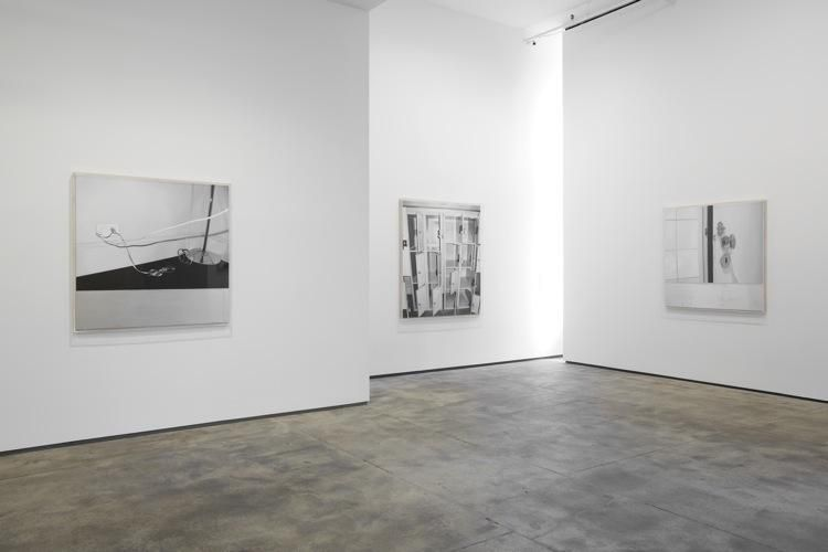 Installation view of ​James White: The Black Mirror at Sean Kelly, New York