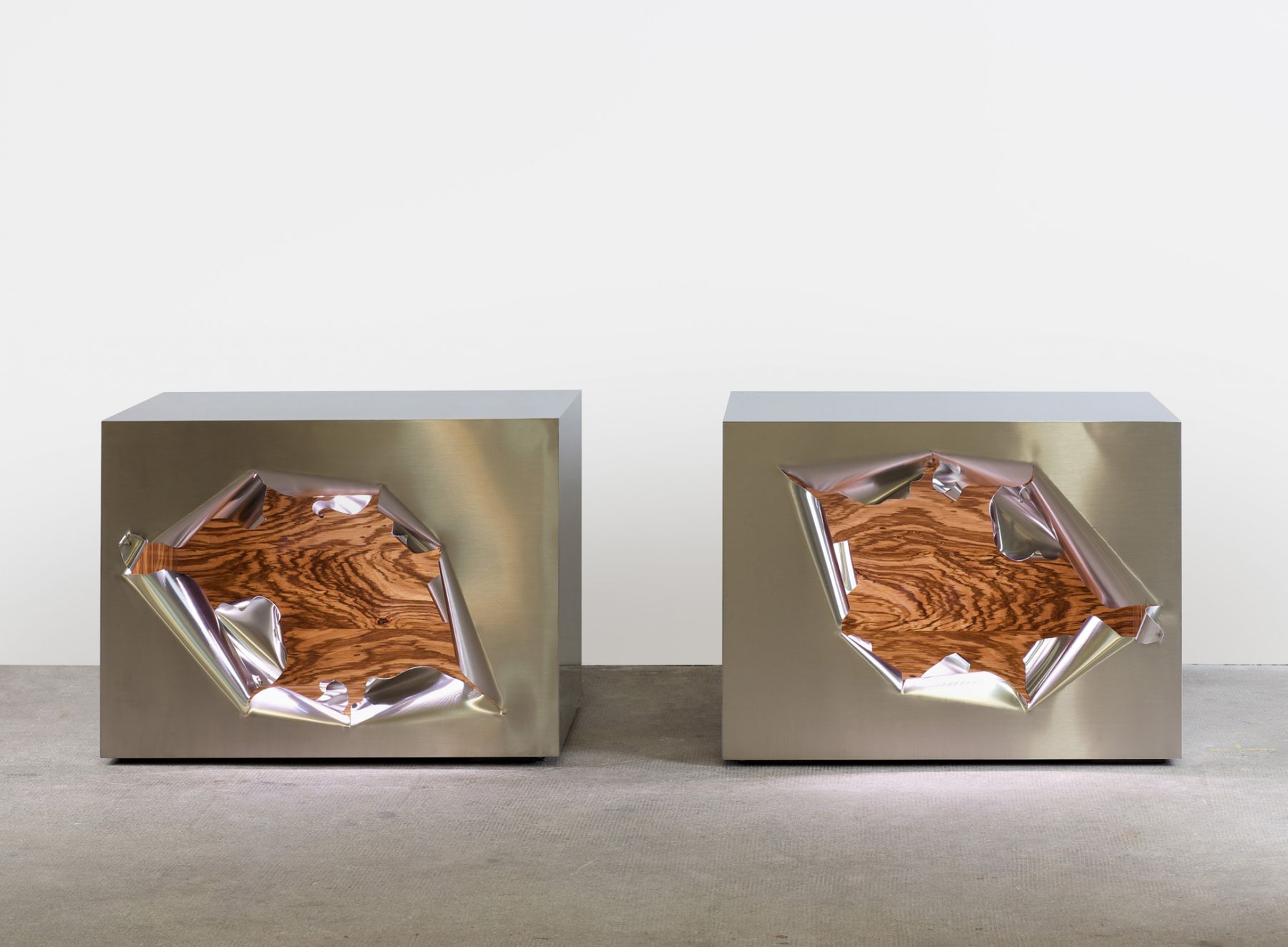 Maria Pergay | Cube Casse / Broken Cube A and B, 2010