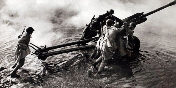 Fording the Oder River, 1944