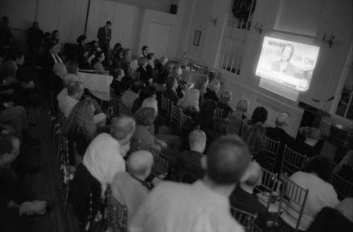 Watching primary campaign debate, Manhattan Republican Club, Upper East Side,December 15, 2015