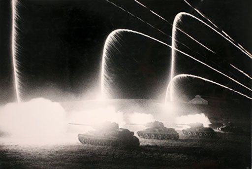 Tank Attack at Night, 1943