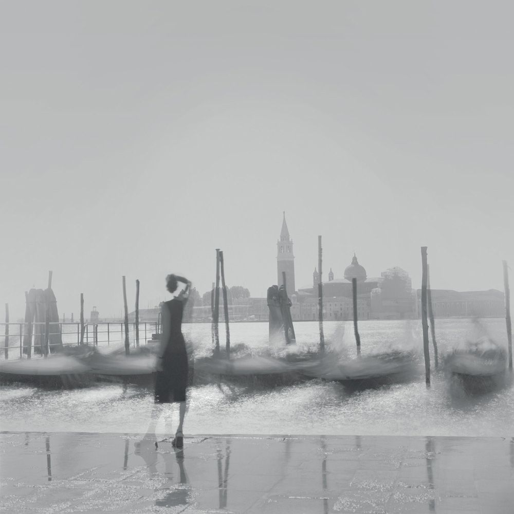 Alexey Titarenko (b. 1962, St. Petersburg), Gondolas, Venice, 2001