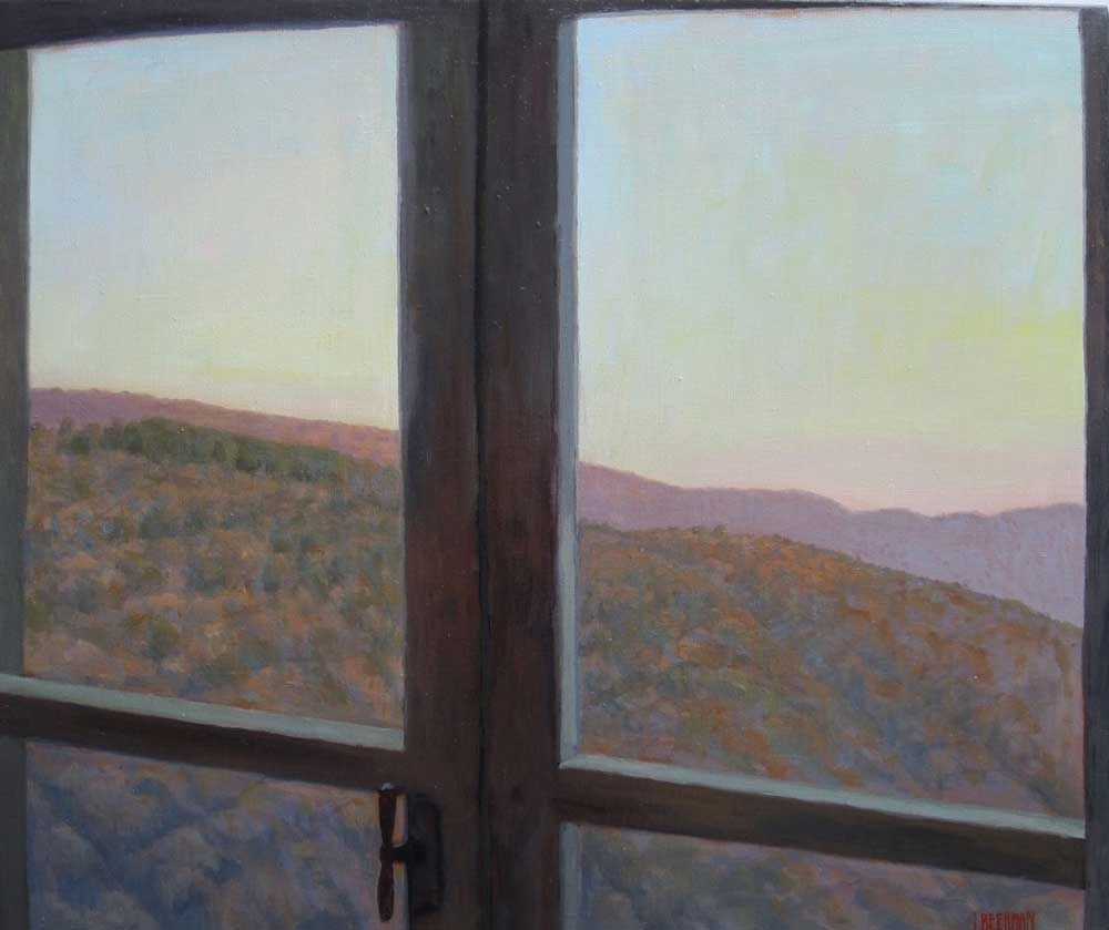 La Fortezza, View From Window, Winter, Late Afternoon Light on Mountain, 2015